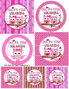 DIY Printable Owl Be Your Valentine 1 Shrinky Dinks by MaddieZee, $1.25