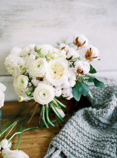 all white bouquet | photo by les amis photo | image via: ruffled blog