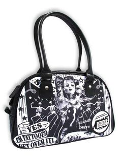 Get Over It Handbag Retro Tattooed Lady Pinup Sideshow Inked http://www.inkedboutique.com/