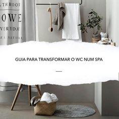 GUIA PARA TRANSFORMAR O WC NUM SPA - DESIGN POR ACASO Spas, Design, Bright Colours, Wooden Stools, Tiles, Design Comics