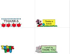 ~Zeek's Zoo~ great little thank you notes to have ready whenever you need to thank a student or parent.