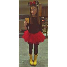 Rainboot Minnie costume