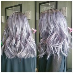 SILVER LAVENDER  Using all @Schwarzkopfusa! I also dragged out her natural base color so her maintenance would be lower. Base: 4-13, 5-1, 0,22 7vol Ends: 9.5-29, 9.5-22, 0-99 7vol. Styled by my assistant @maayanbescene! #BESCENE                                                                                                                                                     More