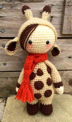 Handmade crochet amigurumi small giraffe - just over 10 inches **Made to Order** - Cute Gift/keepsake idea Crochet Amigurumi, Amigurumi Doll, Amigurumi Patterns, Crochet Patterns, Knitted Dolls, Crochet Dolls, Crochet Yarn, Cute Crochet, Crochet For Kids