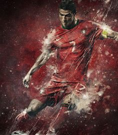 Cristiano Ronaldo by Studioluko , via Behance