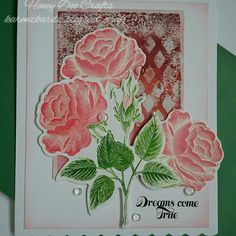 Honey Doo Crafts Roses are Red stamp and die DT sample #rosesarered #honeydoocrafts #dtsample #stamping #stamps #cardmaking #cards #handmade  #distressinks