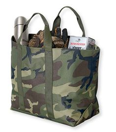 This camo tote is quite trendy