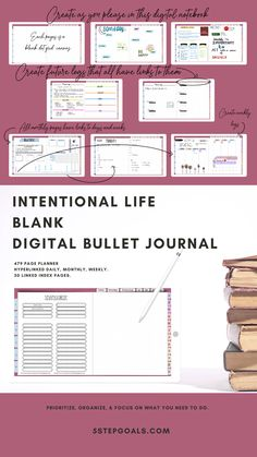 blank digital for intentional living Letter To Yourself, Create Yourself, Weekly Goals, Image Stickers, Planner Book, Bullet Journal Layout, Planner Organization, What You Can Do, Peace Of Mind