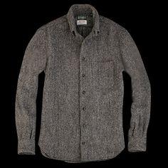 Gitman Vintage × Harris Tweed Overshirt Charcoal Herringbone / ギットマンヴィンテージ×ハリスツイードオーバーシャツチャコールヘリンボーン / TheFillmore
