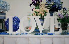 оформление свадьбы буквами #love #wedding #blue