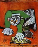 Later Works 1950 to 1972 Pablo Picasso. Paloma and Claude, Children of Picasso. Paloma with Celluloid Fish. Françoise Gilot with Claude and Paloma. Pablo Picasso, Art Picasso, Picasso Paintings, Trinidad, Art Espagnole, Cubist Movement, Georges Braque, Art Moderne, Art Reproductions