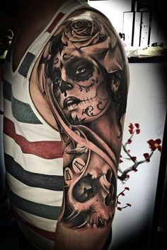 Awesome Day Of The Dead Tattoos, http://photovide.com/day-dead-tattoos/