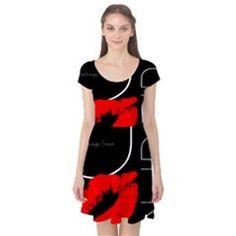 Funny Black White Red Dress
