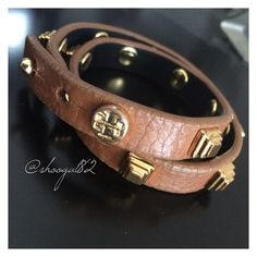 "SOLD ""Tory Burch Double Wrap Leather Bracelet"" in my Poshmark closet! My username is: shoogal82. #shopmycloset #poshmark #fashion #shopping #style #forsale #Tory Burch #Accessories"