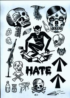 www.duncanx.com tattoo flash sheet 1