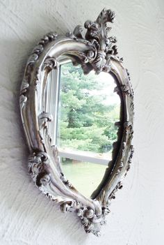 Beautiful Living Silver Gold Rococo French Victorian Style Mirror Frame Ornate Wall Hanging