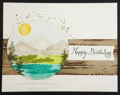 Waterfront, Occasions 2018, Stampin' Up!, Hand Stamped, Masculine Birthday,