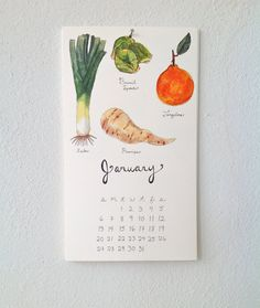 Little Canoe | 2013 Produce Calendars    renegadecraft.com/sanfrancisco-holiday-artists