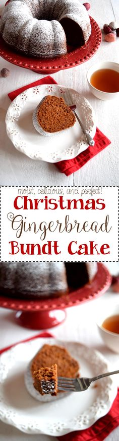 Gingerbread Bundt Cake - Christmastime isn't right in our home without a Gingerbread Bundt Cake.  Moist and delicious, this cake doesn't need a frosting or any fancy decorating.  It's perfect just as it is with a cup of hot tea.