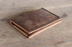Men's Leather Wallet /Ultra Slim Minimalist Rustic Bifold Design - 010 - JooJoobs Original - Wallets for Men