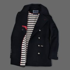MILL MERCANTILE - Saint James - St-Briac Peacoat in Navy