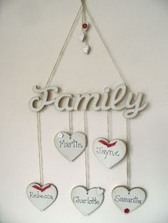 "Cute idea but maybe ""Grandchildren"" instead of ""family"" and use all of our grandchildren's names!!"