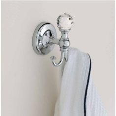 Hafele Voga Madras Orient Collection Double Bathroom Hook Chrome With Swarovski Crystal 2