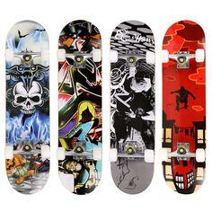 브랜드 프로 두개골 패턴 롱 보드 스케이트 보드 전체 갑판 나무 데크 스케이트 보드 야외 익스트림 sports 긴 보드 hoverboard