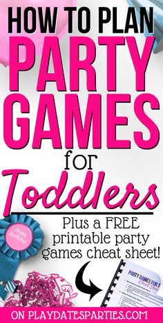 47 Super Ideas For Easy Party Games For Toddlers Free Printable Disney Party Games, Princess Party Games, Easy Party Games, Garden Party Games, Toddler Party Games, Outdoor Party Games, Adult Party Games, 3 Year Old Birthday Party, Birthday Party Games For Kids