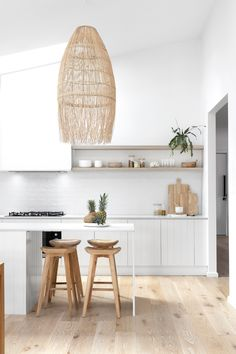 Interior designer Kristy Spencer shares how she transformed an old weatherboard cottage into a coastal escape near the Blue Mountains in Glenbrook, NSW. Kitchen Interior, Interior, Home, House Styles, House Interior, Home Kitchens, Interior Design, Kitchen Design, House And Home Magazine
