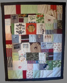 Exactly what I've been looking for - a quilt out of treasured old baby clothes! Jelly Bean Quilts | T-shirt Quilts, Baby Clothes Memory Quilts | Phoenix, AZ