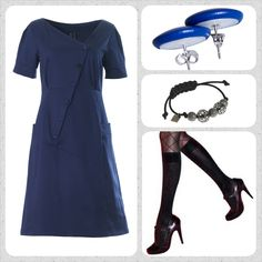 The Synne dress it an all time favourite Weiz dress! Ad a pair of blue Eardots, a simple black bracelet and some cool stockings. Nice and easy look!