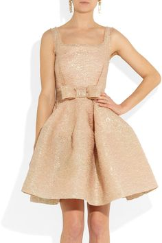 Lanvin | Bow-embellished textured-crepe dress