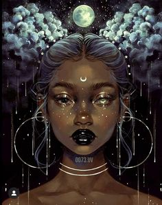 Beautiful Bizarre Magazine — That is one fascinating digital painting by. Arte Digital Fantasy, Digital Art Girl, Fantasy Art, Art Black Love, Black Girl Art, Black Girl Cartoon, Pretty Art, Cute Art, Art Magique