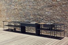 Stainless steel outdoor kitchen Outdoor kitchen Garden Collection by Röshults | design BRDA - BROBERG
