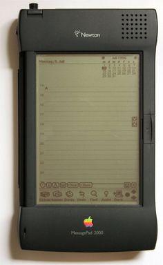 The original iPad. Apple MessagePad 2000  Newton correct my spread of this post…