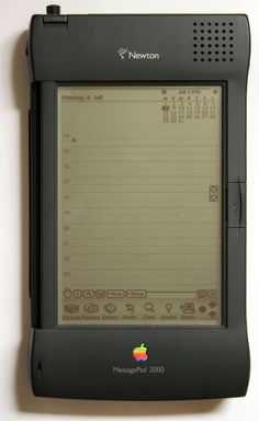 The original iPad. Apple MessagePad 2000  Newton correct my spread of this post…
