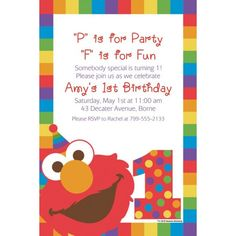 Elmo invitation elmo birthday invitation art party invitation custom elmo 1st birthday invitation solutioingenieria Choice Image