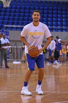 Klay Thompson of the Golden State Warriors shoots the ball during practice and media availability at Shenzhen Gymnasium as part of 2017 NBA Global. Golden State Basketball, Basketball Baby, Basketball Quotes, Love And Basketball, Basketball Players, Basketball Signs, Basketball Court, Baseball, Thompson Warriors