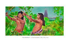 Jäger aus Sri Lanka vor Kölner Dom