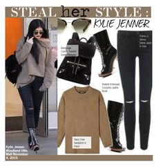 """""""Steal Her Style-Kylie Jenner"""" by kusja ❤ liked on Polyvore featuring moda, Rodarte, Satine, adidas Originals, Christian Dior, Balenciaga, Stealherstyle, celebstyle ve KylieJenner"""