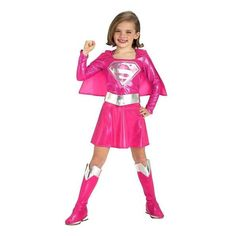 Pink Supergirl Toddler/Child Costume: Size Small
