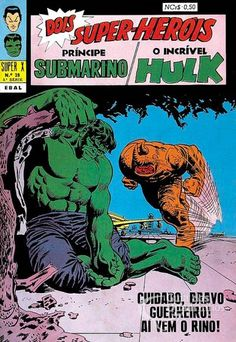 Príncipe Submarino e O Incrível Hulk (Super X) n° 28 - Ebal