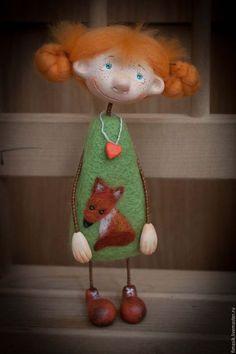 Купить или заказать Девчушки для Евгении в интернет-магазине на Ярмарке Мастеров. повтор Wool Dolls, Clay Dolls, Felt Dolls, Fabric Doll Pattern, Arte Country, Needle Felting Tutorials, Paper Crafts Origami, Fairy Dolls, Doll Crafts
