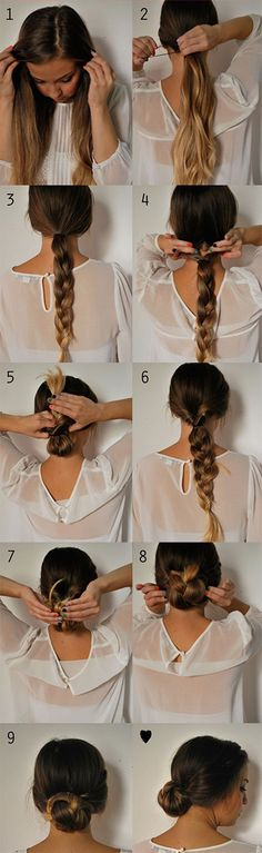 low-braided-bun-twist-easy-hair-styles