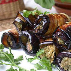 Baklazany s vlazskymi orechami Gourmet Recipes, Vegetarian Recipes, Cooking Recipes, Healthy Recipes, No Cook Appetizers, Appetizer Recipes, Georgian Food, Baked Vegetables, Eggplant Recipes