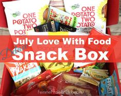 Check out the healthy goodies that came in my July Love With Food Deluxe Snack Box. #lovewithfood #snacks