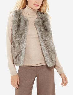 Faux Fur Vest - Whether you're hitting the slopes or staying cozy by the fire, warm up to this ultra comfortable vest for cold weather chic!