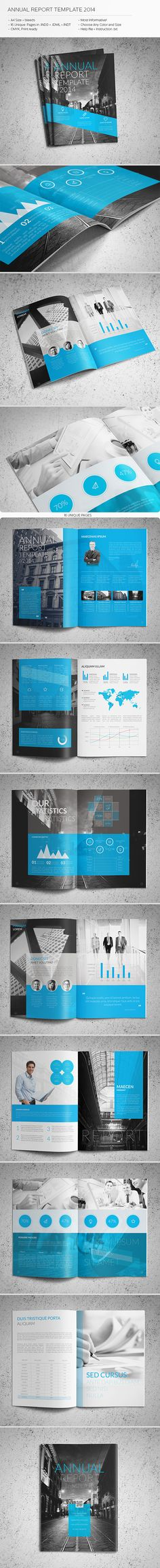 Annual Report Template InDesign INDD Download here   - report template