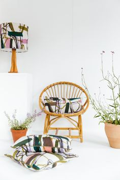 Laura Slater- 'LAND' 2018 COLLECTION 'Monolith' Print Hand Screen Printed Interior Textiles (c) Laura Slater 2018 Textiles, Textile Prints, Colour Combinations, Color Schemes, Laura Slater, Fabric Printing, Screenprinting, Hanging Chair, Simple Style
